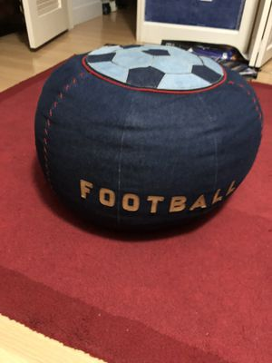 Kid size sports themed denim beanbag chair for Sale in Pinecrest, FL