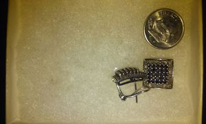 Antique Style Black Diamonds&Clear Diamonds sterling silver925 real earrings for Sale in West Mifflin, PA