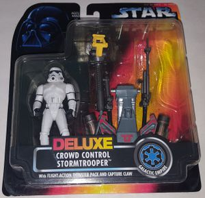 Star Wars 1996 Deluxe Crowd Control Stormtrooper Action Figure for Sale in Lakewood, WA