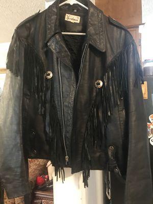 Men's Leather Fringe Jacket for Sale in Lexington, SC
