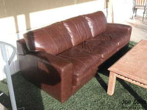 Sofa Bed Leather for Sale in Phoenix, AZ