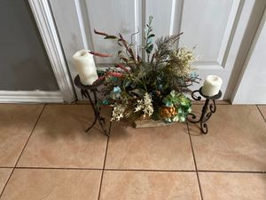 Fake plant with candles for Sale in Charlotte, NC