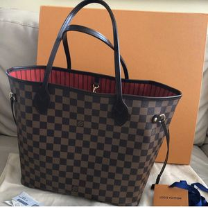 Louis Vuitton Neverfull Damier Ebene MM Cherry with dust bag for Sale in Brea, CA
