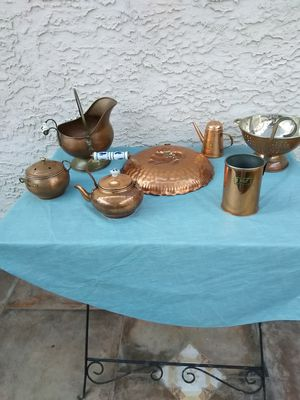 Copper pot/utensils (13 peices sold together) for Sale in Henderson, NV