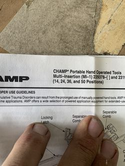 AMP MI-1 CHAMP TOOL for Sale in Rancho Cucamonga,  CA