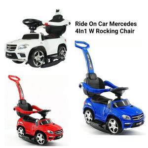 Ride On push car 4in1 Mercedes with Rocking chair, LED lights Brand New for Sale in Miami, FL