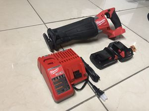 MILWAUKEE M18 FUEL BRUSHLESS SAWZALL RECIPROCATING SAW KIT WITH (2)2.0AH BATTERIES,CHARGER PRICE IS FIRM ALL OFFERS Will Be IGNORED for Sale in Miami, FL