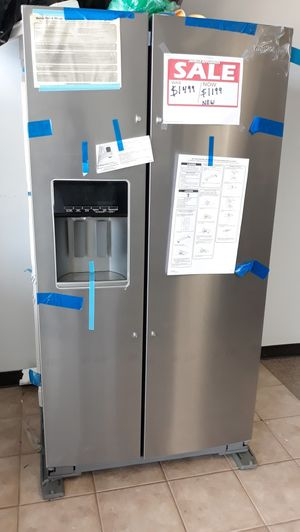 Stainless steel set Electric stove and side by side refrigerator brand new for Sale in Laurel, MD