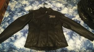 Medium Victory Motorcycle Leather Jacket for Sale in Brentwood, NC