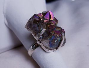 Druzy Agate and sterling silver ring, size 6 for Sale in Bangor, ME