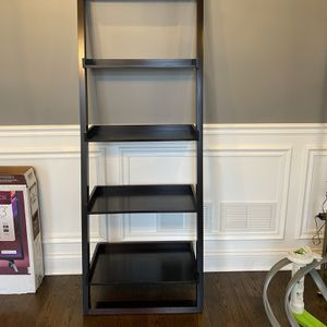 Crate & Barrel Dark Wood Leaning Bookcase for Sale in Brookfield, IL