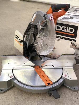 RIDGID 15 Amp Corded 12 in. Dual Bevel Miter Saw with Laser for Sale in Paramount, CA