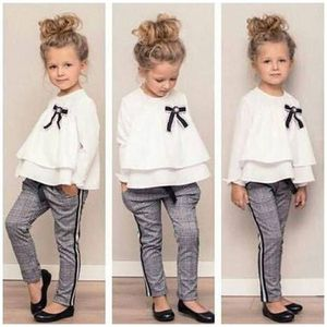 Newborn Kid Baby Girl Chiffon T-shirt+Stripes Trousers Pants Casual Clothes for Sale in Orlando, FL