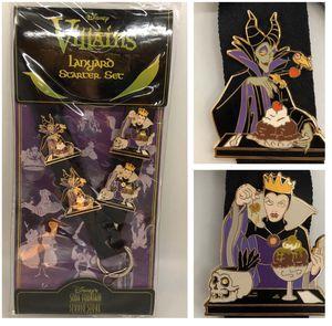 Disney Soda Fountain DSF Villains lanyard 4 pin set - brand NEW for Sale in Tustin, CA