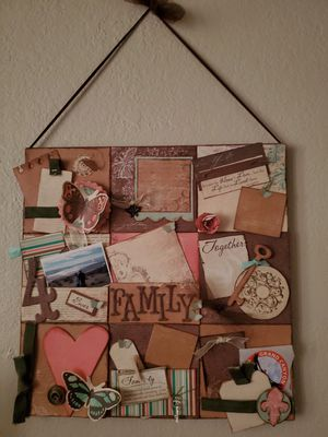 Family themed scrapbook page 12x12 for Sale in Oceano, CA