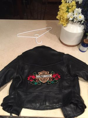 Women's leather jacket with Harley Davidson patch for Sale in Orlando, FL