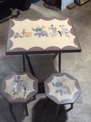 Rare fold up Howdy Doody play table with chairs for Sale in Dover, PA