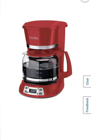 Cooks 12 Cup Coffee Maker Auto Shutoff Red for Sale in Fontana, CA