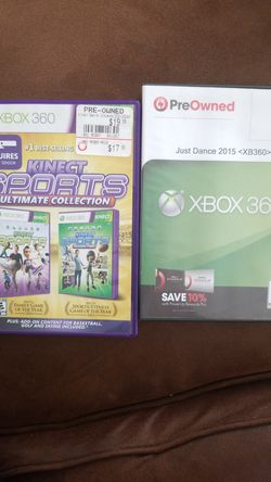 Xbox 360 kinect games bundle for Sale in Charlottesville,  VA