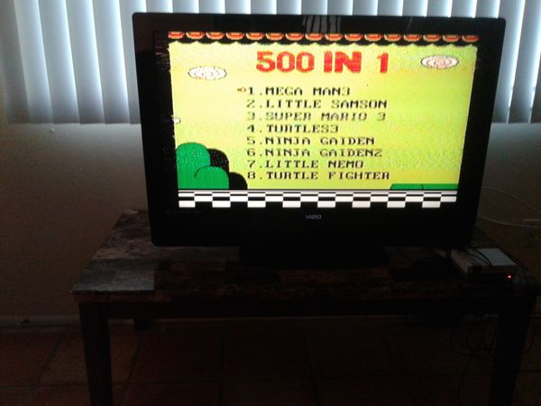 Nintendo console, preloaded with 500 games