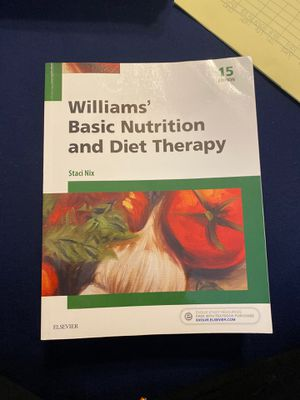 NEW WILLIAMS BASIC NUTRITION AND DIET THERAPY for Sale in Placentia, CA