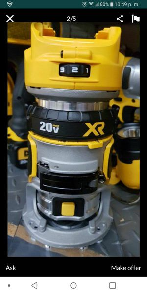 Dewalt nuevo xr router tool only for Sale in Perris, CA