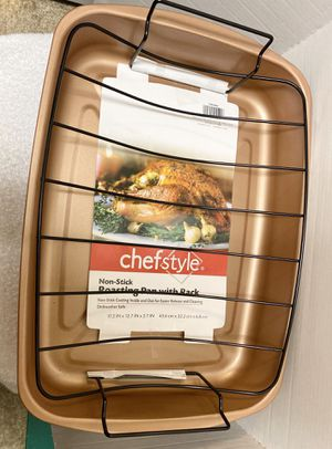 Copper Chef style Non-stick Roasting Pan with Rack for Sale in San Antonio, TX