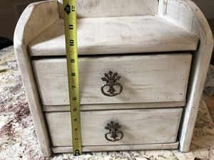 Rustic Solid Wood Storage-2 drawers for Sale in Silver Spring, MD