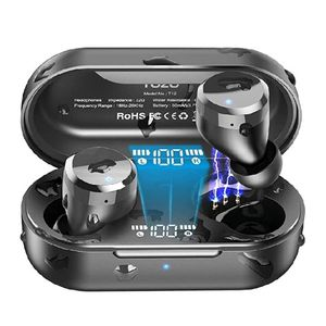 TOZO T12 Wireless Earbuds Bluetooth Headphones Premium Fidelity Sound Quality Wireless Charging Case Digital LED Intelligence Display IPX8 Waterproof for Sale in Rialto, CA
