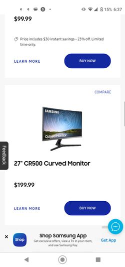 Samsung Monitor (GAMING/CURVED) '24'' INCH Msi for Sale in Seattle,  WA