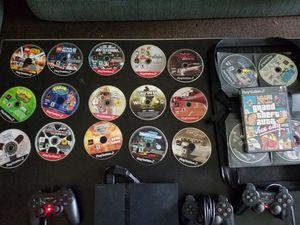 PS 2 slim console + controls + 36 games for Sale in Boca Raton, FL