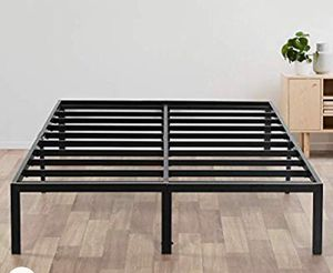 Queen size - Olee Sleep 14 Inch Heavy Duty Steel Slat/ Anti-slip Support/ Easy Assembly/ Mattress Foundation/ Bed Frame/ Maximum Storage/ Noise Free/ for Sale in Redmond, WA