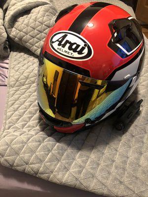 Men's Arai XL motorcycle helmet with Sena 10c pro for Sale in Queens, NY
