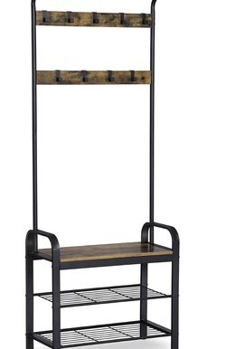 Coat Rack, Shoe Bench, Hall Tree with Storage Shelf for Entryway for Sale in Rancho Cucamonga,  CA