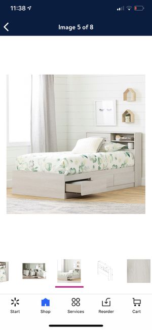 Twin Platform Bed with Drawers, Headboard and Mattress for Sale in Queens, NY