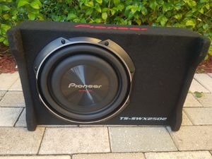 Pioneer Series TS-SWX2502 Car Subwoofer for Sale in North Miami Beach, FL
