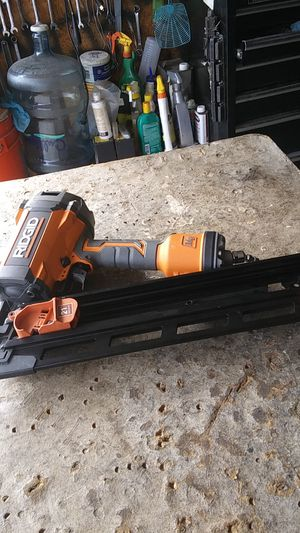 Ridgid freiming nailer21 round used for Sale in Compton, CA