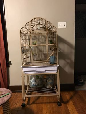 Large standing bird cage for Sale in Pittsburgh, PA