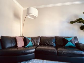 Black Leather Sectional for Sale in San Francisco,  CA
