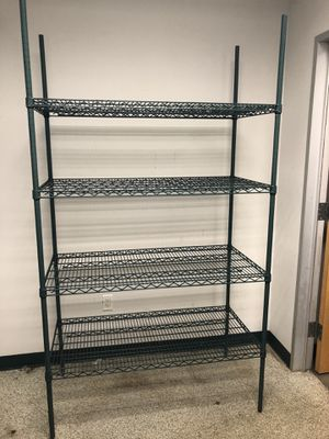 "Shelf Green metal shelving 48""Wx30""Dx64""H for Sale in Palmetto Bay, FL"