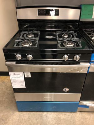 1 YR Warranty! Amana Gas Stove Oven Range 4 Burner Stainless Steel #1928 for Sale in Gilbert, AZ