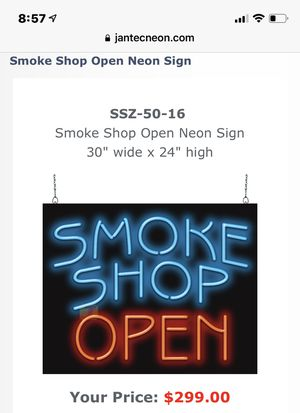 Jantek Neon Pro Sign for Sale in Tacoma, WA