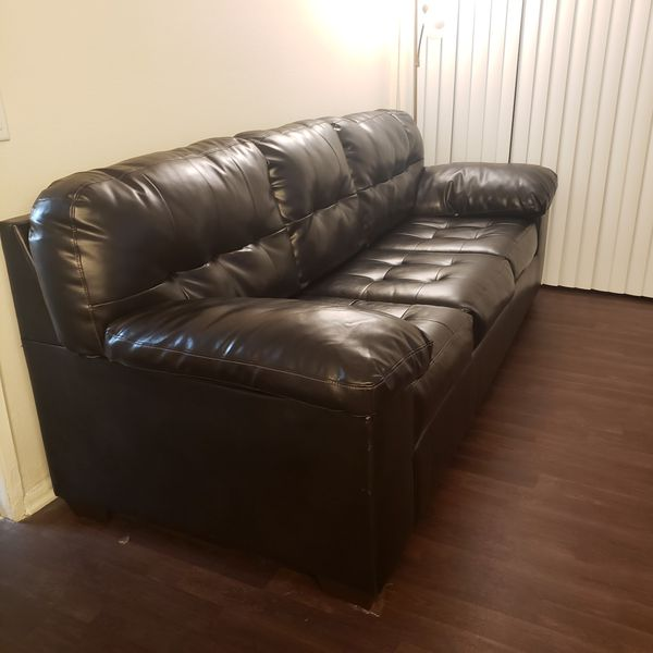 **** Brown Leather Couch ****