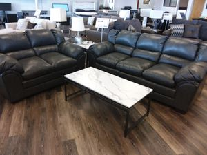 PLUSH CHARCOAL 2PC SOFA AND LOVESEAT SET for Sale in Arlington, TX