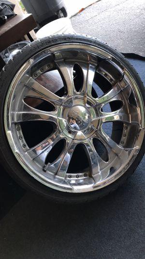 """Gazario 167 Chrome 5-spoke 20"""" Rims for Sale in Chino Hills, CA"""
