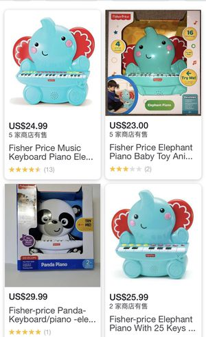 Fisher Price Music Keyboard Piano Elephant for Sale in San Antonio, TX