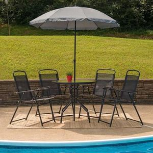 SHIPPING ONLY 6 Piece Patio Furniture Set for Outdoor Areas w/Chairs Table and Umbrella for Sale in Las Vegas, NV