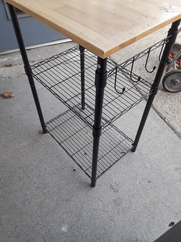 Kitchen utility cart w shelves $ 45
