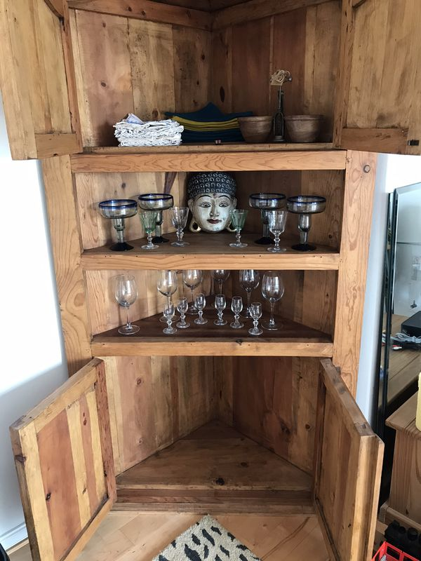 Mexican corner cupboard