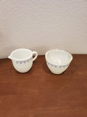 Vintage Pyrex Cream and Sugar Set for Sale in Westfield, IN